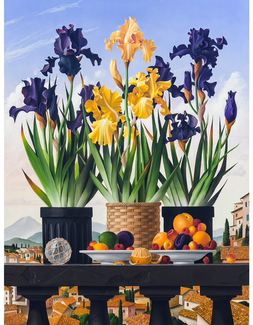 , '3 Pots of Iris,' 2007, Clark Gallery