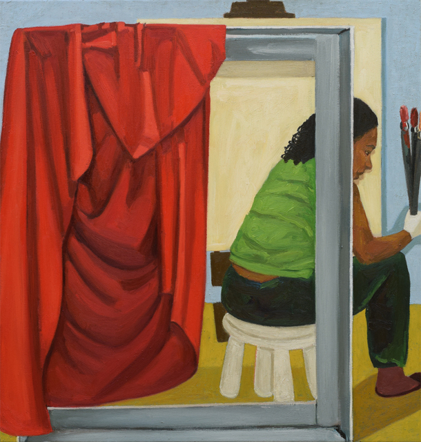 , 'Woman Behind the Curtain,' 2017, Tiwani Contemporary