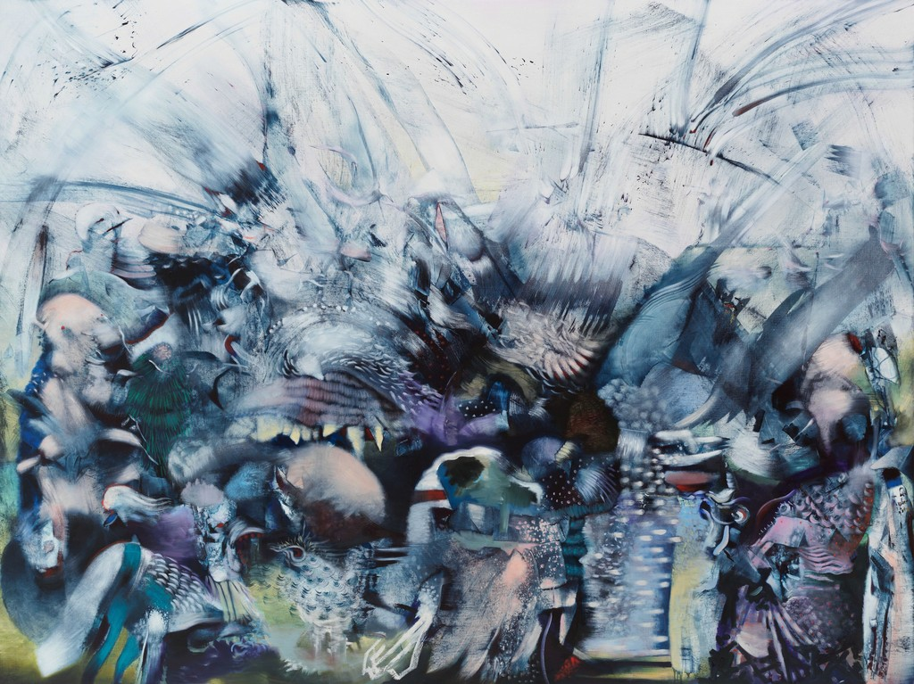 Ali Banisadr, The Building of Icarus, 2018, Courtesy the artist and Blain Southern
