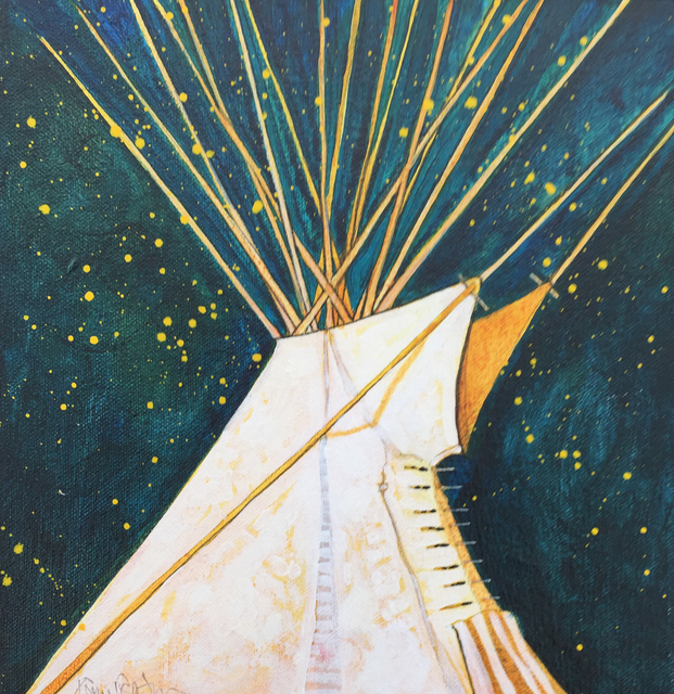 Kevin Red Star, 'Crow Indian Tipi', Modern West
