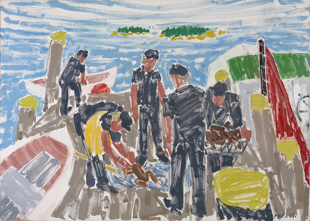 , 'Fisherman and Four Sons,' 1991, Dowling Walsh