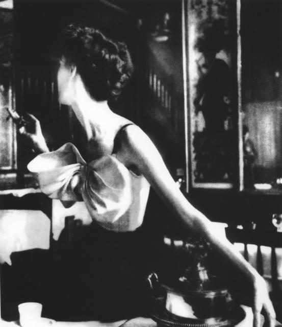 Lillian Bassman, 'Across the Restaurant at Le Grand Vefour, Barbara Mullen, Harper's Bazaar, Paris [Dress by Jacques Fath]', 1949, Photography, Gelatin silver print, Peter Fetterman Gallery