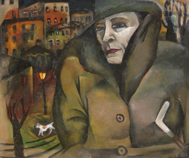 Lilja Busse, 'Woman & Street Scene', 1929, EastCoastArt