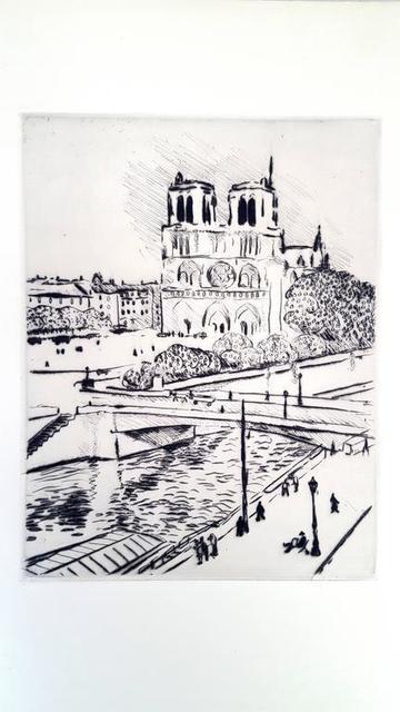 "Albert Marquet, 'Original Etching ""Notre Dame"" by Albert Marquet', 1927, Galerie Philia"
