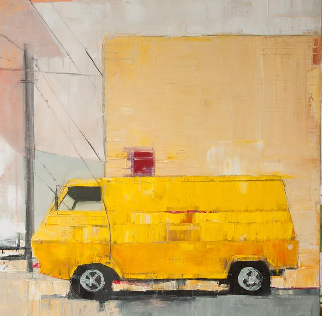 , 'Yellow Van with Yellow Building,' 2016, Susan Eley Fine Art