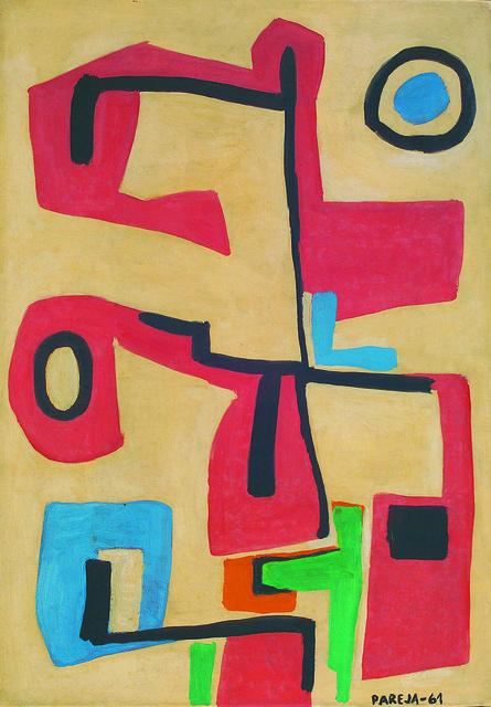 , 'Formas en rojo,' 1961, Galería de las Misiones