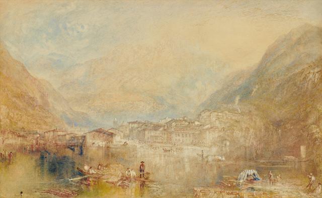 , 'Brunnen from the Lake of Lucerne,' 1845, Clark Art Institute