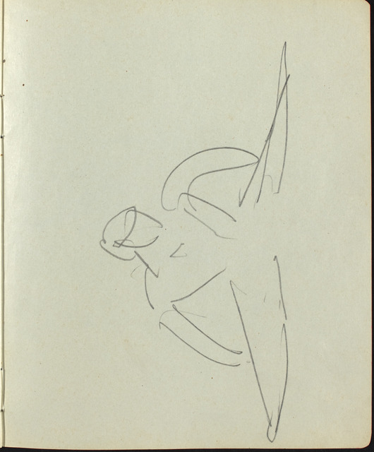 Ernst Ludwig Kirchner, 'Dancers and Performers (Page from a Sketchbook)', ca. 1911, National Gallery of Art, Washington, D.C.