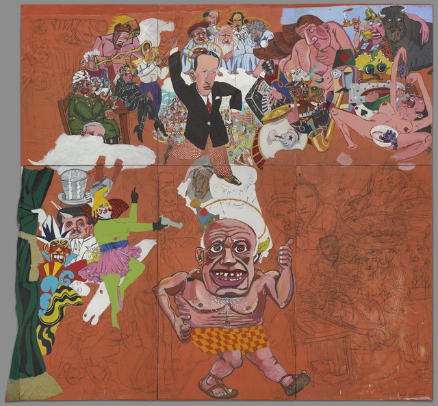 Red Grooms, 'Picasso Goes to Heaven,' 1973, Yale University Art Gallery