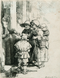 Beggars Receiving Alms at the Door of a House