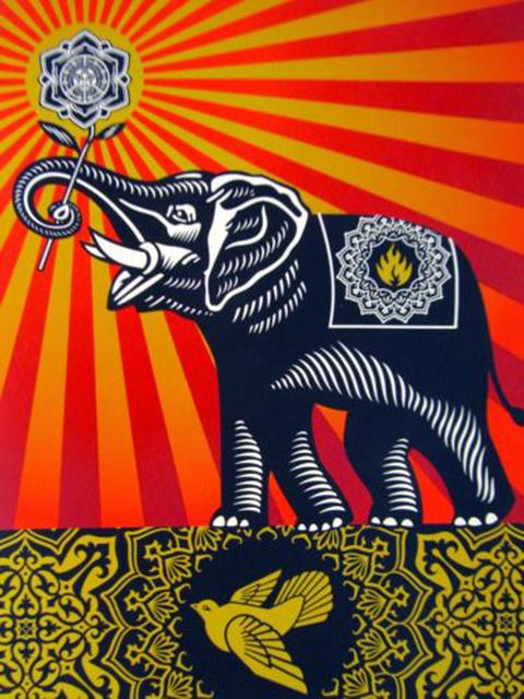 Shepard Fairey, 'Peace Elephant', 2011, EHC Fine Art Gallery Auction