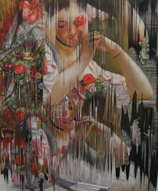 """, 'Ejercicio de distorsión sobre """"The Bouquet"""" de Albert RAUDNITZ,' 2018, MAIA Contemporary"""