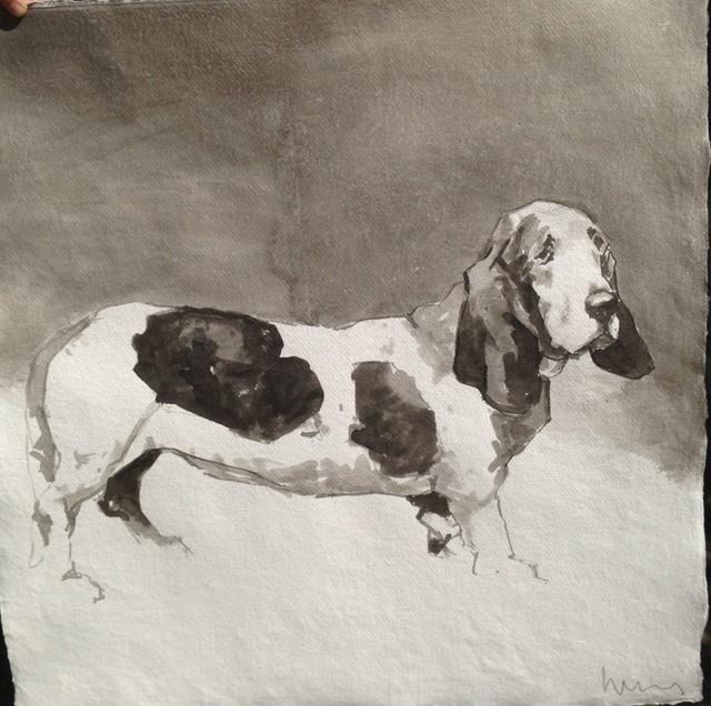 , 'Bassett Hound (facing right),' 2015, Dog & Horse Fine Art