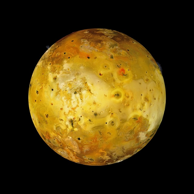 , 'Volcanic Io with Two Eruptions Visible, Galileo, July 3, 1999,' 2010, Flowers