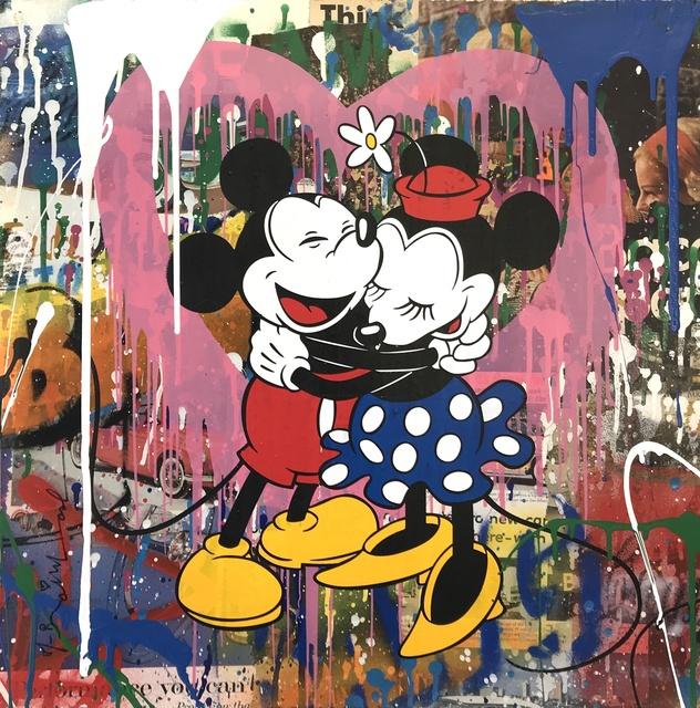 Mr. Brainwash, 'Mickey & Minnie Hug (Pink Heart)', 2017, Denis Bloch Fine Art