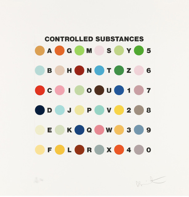 Damien Hirst, 'Controlled Substances Key Spot', 2011, Galerie d'Orsay