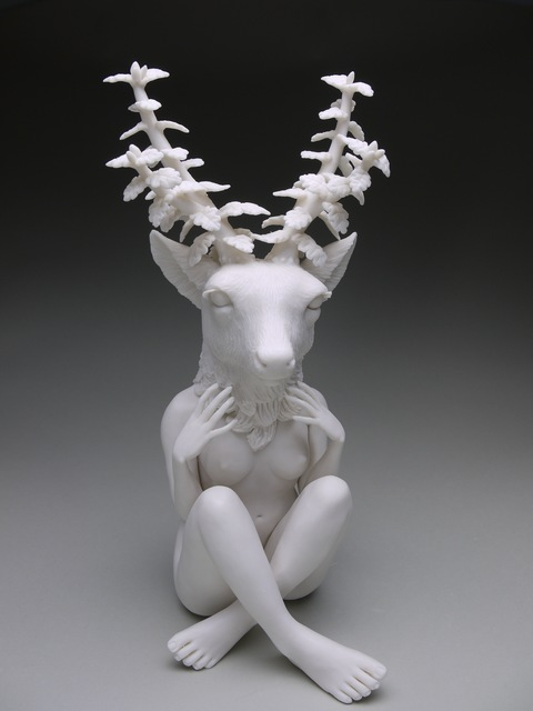 , 'Delicate Dependency: Mule Deer With White Oak Adaptation,' 2016, Abmeyer + Wood Fine Art