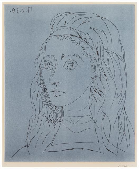 Pablo Picasso, 'Portrait de Jacqueline', 1959, John Szoke