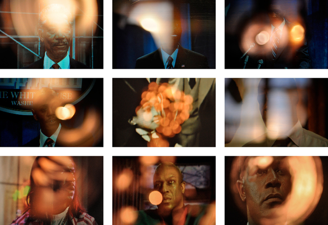 , 'Aureola (Black Presidents) (set of 9),' 2009, ROCKELMANN  &
