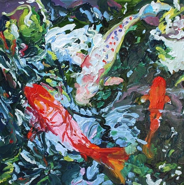 , 'Three Koi, July,' 2016, Beth Urdang Gallery