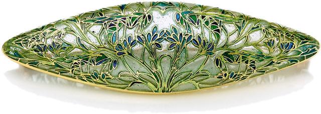 René Lalique, 'Grasshoppers in Branches Brooch', circa 1904-1906, Design/Decorative Art, Gold, plique-à-jour enamel, Sotheby's: Important Design