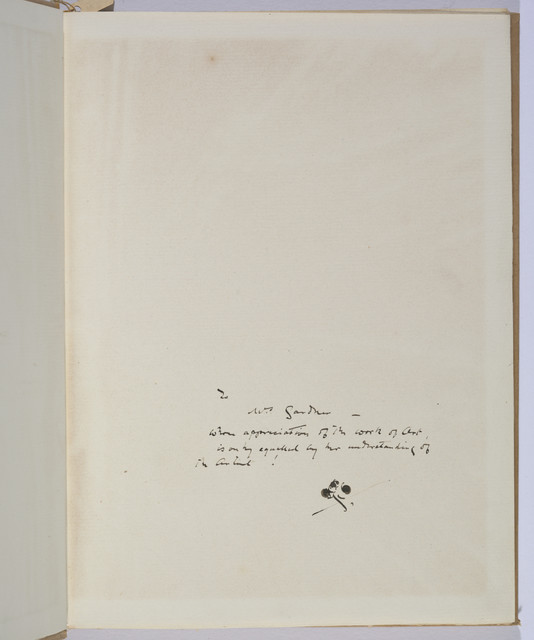 , 'Eden versus Whistler: The Baronet & the Butterfly with dedication to Isabella Stewart Gardner,' 1899, Isabella Stewart Gardner Museum