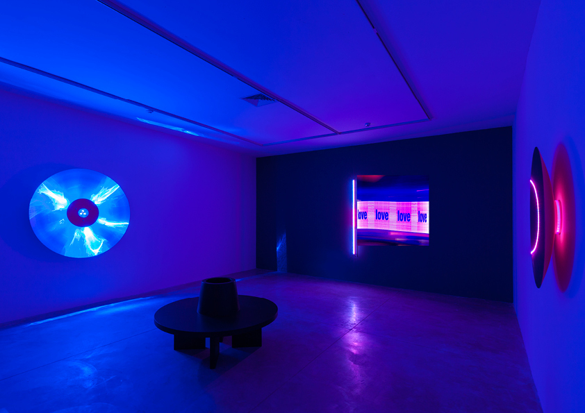Installation view of Chris Levine: Light is Love