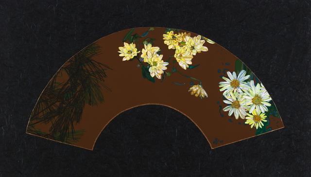 , 'Fan Design with Daisy Mums,' 2006, Woodward Gallery