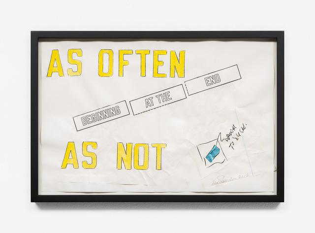 , 'DAWN TO DUSK - BEGINNING AT THE END (AS OFTEN AS NOT),' 2017, Galerie Hubert Winter
