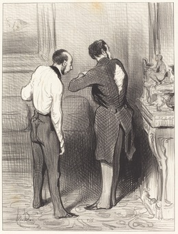 Honoré Daumier, 'Ton habit me convient, je te l'emprunte...', 1845, National Gallery of Art, Washington, D.C.