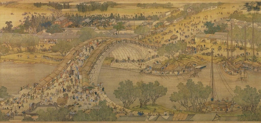Spring Festival on the River (also called Along the River During Qingming Festival), copy of 12th century original by Zhang Zeduan
