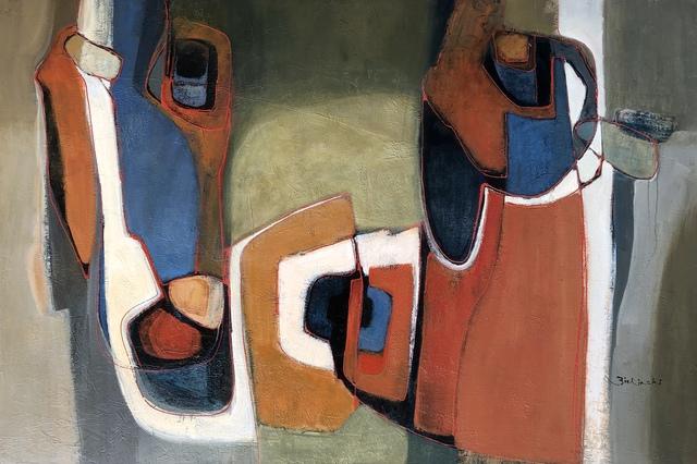Ann Zielinski, 'Copan Messages', 2019, Painting, Acrylic on Canvas, Kurbatoff Gallery