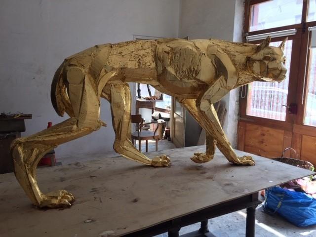 Sophie Dickens, 'Gilded Wolf', 2019, Sculpture, Bronze, Sladmore