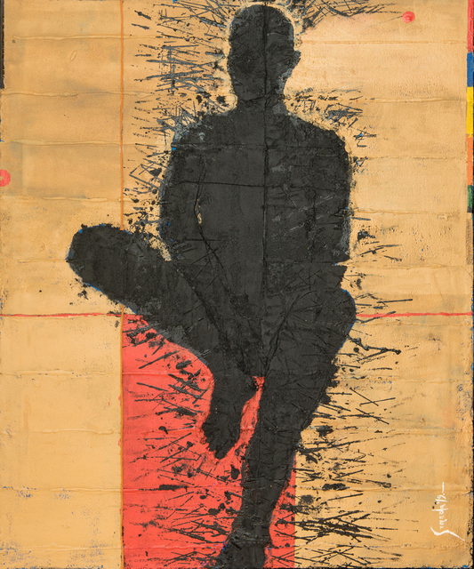 , 'Personaje Sentado,' N/A, Galeria Oscar Roman