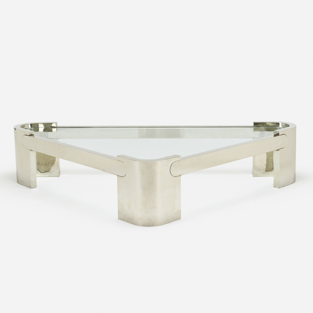 In the manner of Karl Springer, 'coffee table', c. 1970, Wright