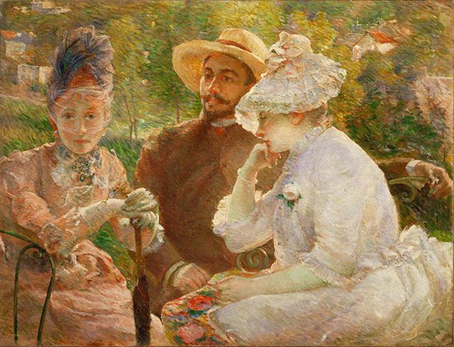 , 'On the Terrace at Sèvres (Sur la terrasse à Sèvres),' 1880, American Federation of Arts