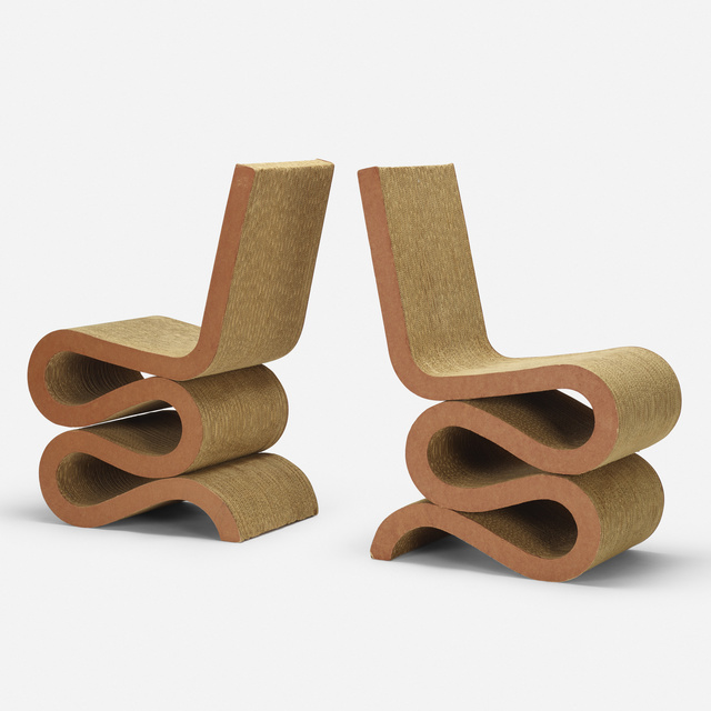 Frank Gehry, 'Wiggle chairs, pair', 1972, Wright