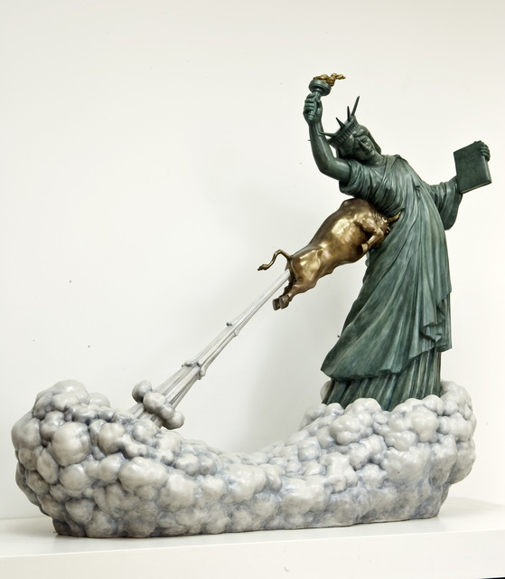 Chen Wenling, 'Statue of Liberty and the Golden Bull', 2009, Contemporary by Angela Li