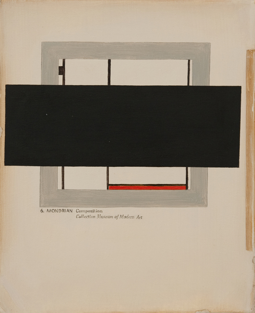 , 'Composition in Red and Black,' 2013, Jane Lombard Gallery