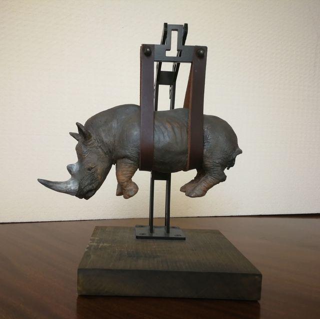 , 'Il peso del tempo sospeso (The wheight of suspended time) - Rhino mini,' 2015, MLB Home Gallery