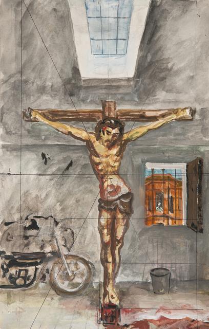 """, 'Sin Título (Boceto para """"Cristo en el garaje"""", 1981),' ca. 1981, Cosmocosa"""