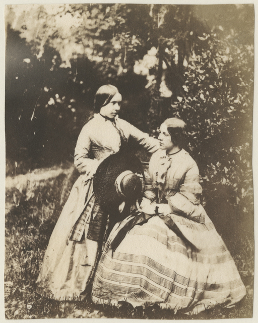 , 'Portrait of two women, standing and seated,' early 1850s, Deborah Bell Photographs