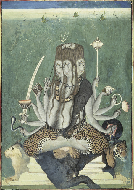 , 'The five-faced Shiva,' ca. 1730-40, Asian Art Museum