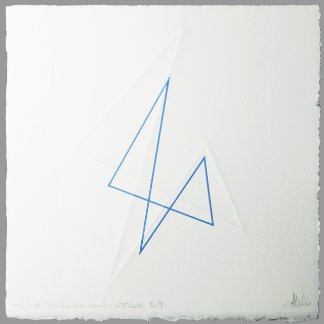 CHANTAL ATELIN, 'Trait 31', 2016, Galerie Marie-Robin