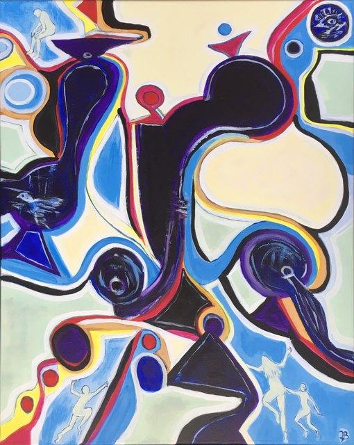 "Jette Bruun, '""Shapes Taking Over""', 2018, Gallery 104"