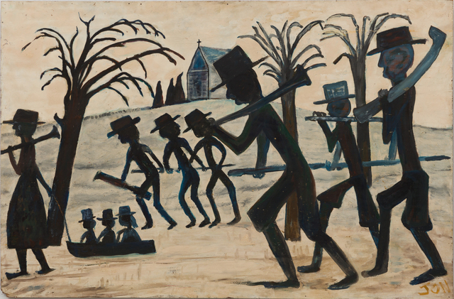 , 'Untitled (Figures Walking with Tools, Trees),' , The Good Luck Gallery