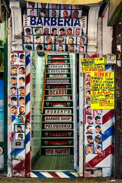 , 'Barberia, Jackson Heights,' 2016, 440 Gallery