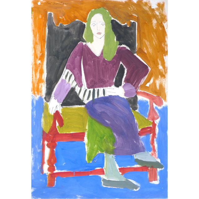 , 'Untitled: seated woman with green hair ,' 1972, Nikola Rukaj Gallery