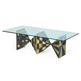 Sculptured Metal dining table (no. PE21), New Hope, PA