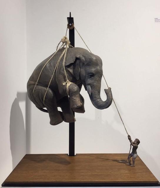 , 'Matteo e l'elefante,' 2017, Galerie Vivendi